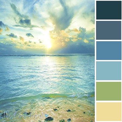 Color Inspiration | Blue Beach Sunset