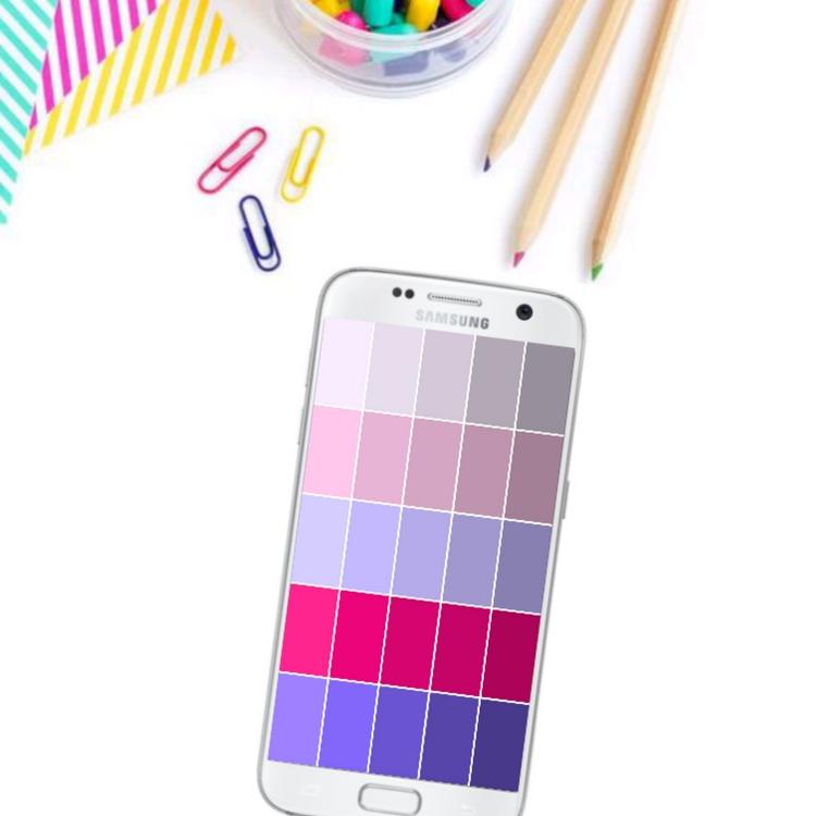 Fun Free Phone Wallpaper – Purple Gradient